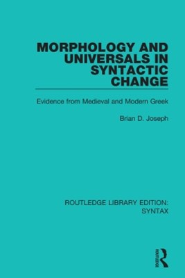 (ebook) Morphology and Universals in Syntactic Change