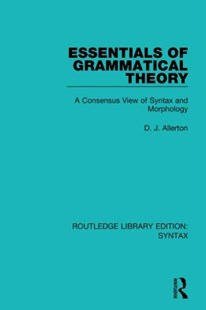 (ebook) Essentials of Grammatical Theory - Reference