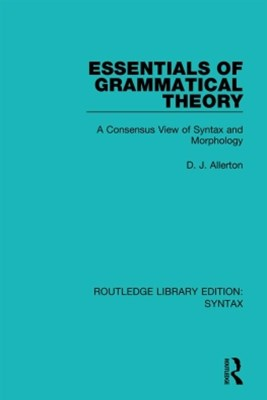 (ebook) Essentials of Grammatical Theory