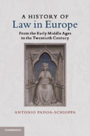 A History of Law in Europe