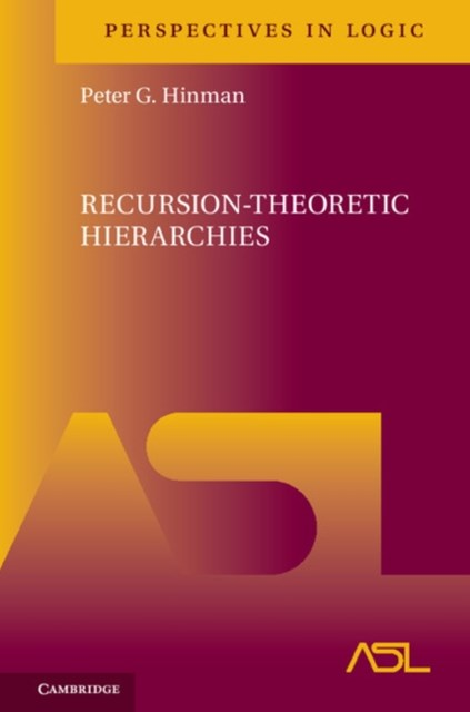 (ebook) Recursion-Theoretic Hierarchies