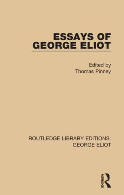 (ebook) Essays of George Eliot