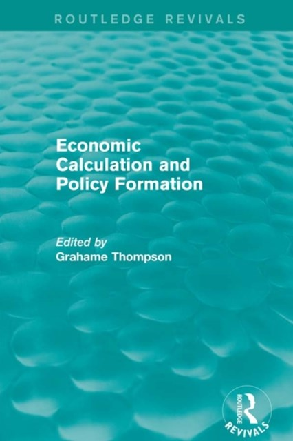 Economic Calculations and Policy Formation (Routledge Revivals)