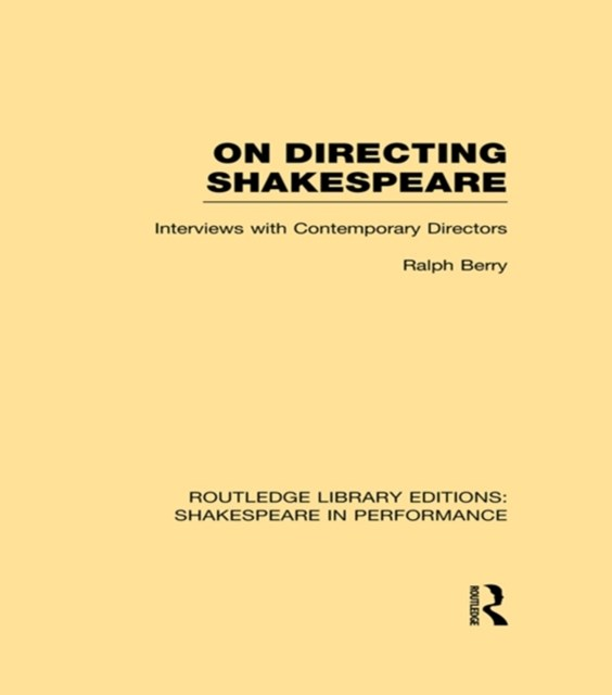 (ebook) On Directing Shakespeare