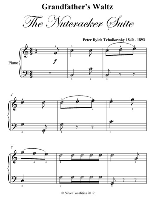 Grandfather's Waltz the Nutcracker Suite Easy Piano Sheet Music Pdf