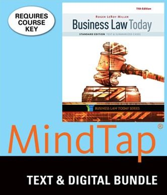 Bundle: Business Law Today, Standard: Text and Summarized Cases, Loose-Leaf Version, 11th + LMS Integrated for MindTap Business Law, 2 Terms (12 Months) Printed Access Card