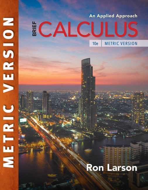 Calculus: An Applied Approach, Brief, International Metric Edition