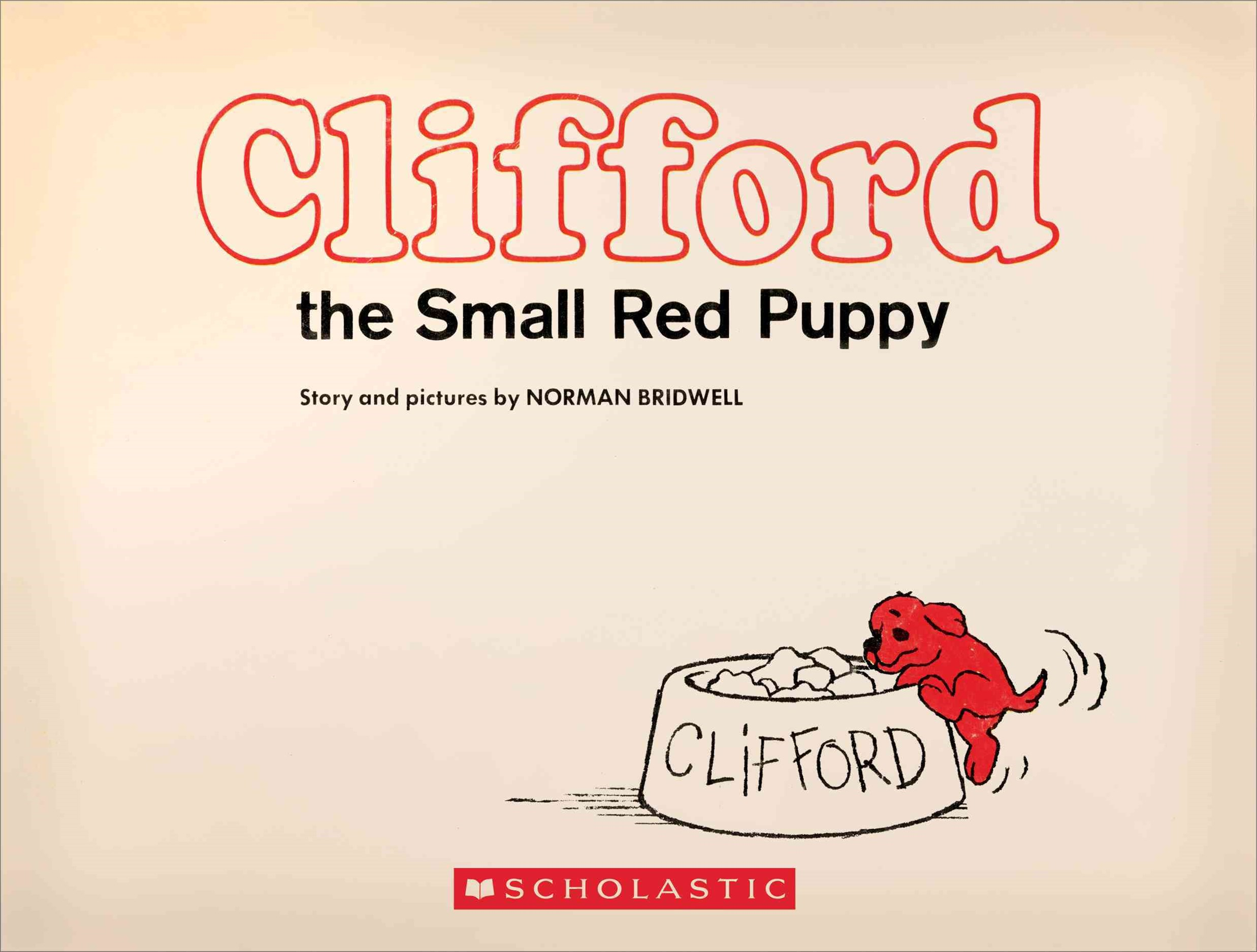 Clifford the Small Red Puppy (Vintage Hardcover Edition)