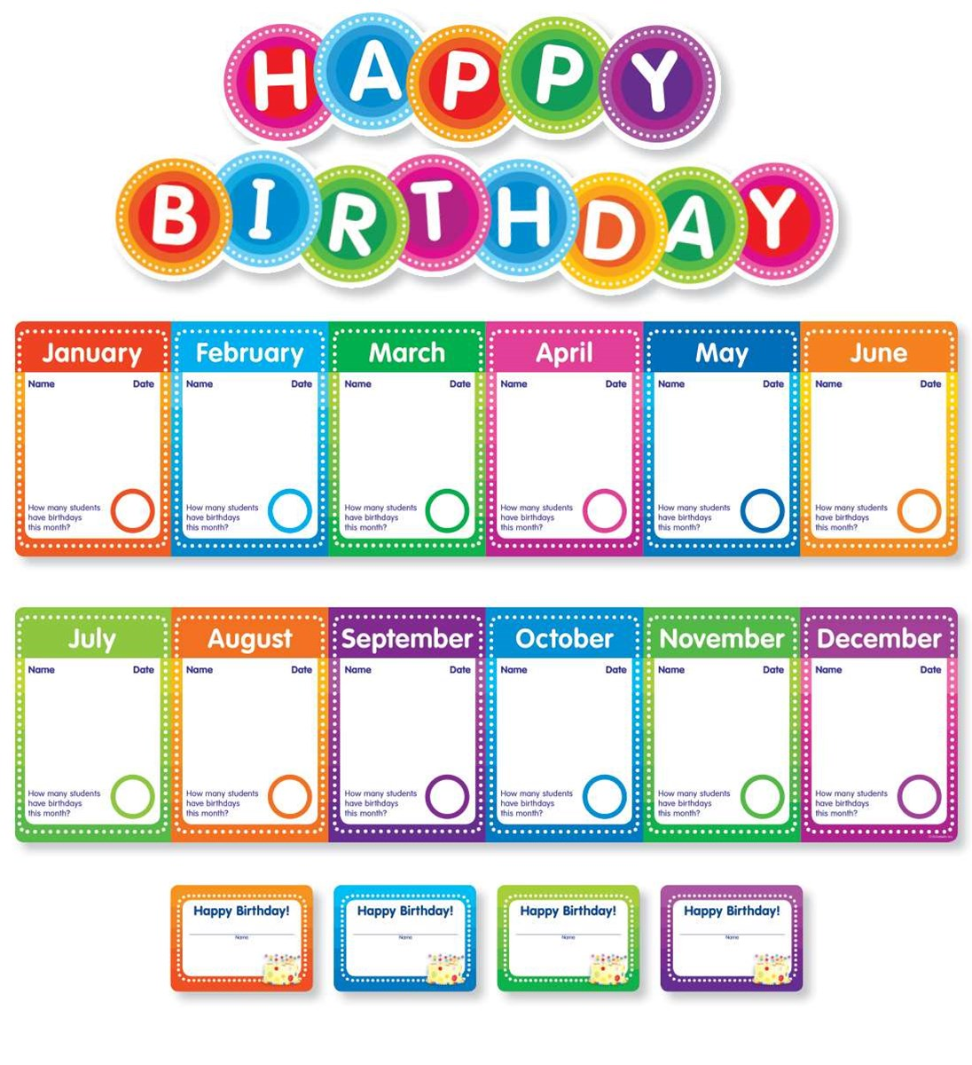 Color Your Classroom! Birthdays