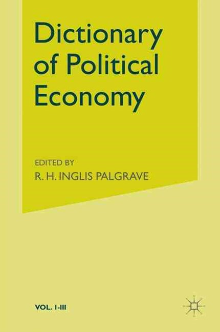 (ebook) Palgrave's Dictionary of Political Economy