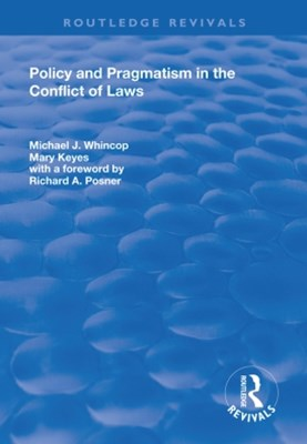 (ebook) Policy and Pragmatism in the Conflict of Laws