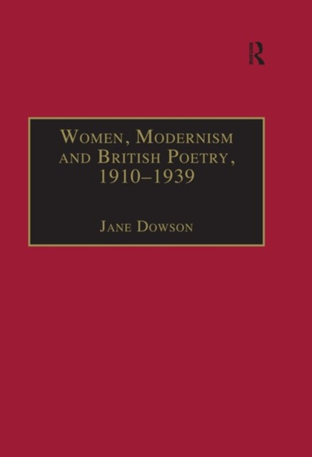 (ebook) Women, Modernism and British Poetry, 1910–1939
