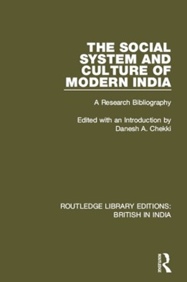 The Social System and Culture of Modern India
