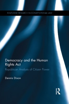 (ebook) Democracy and the Human Rights Act