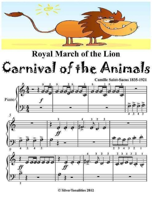Royal March of the Lion Carnival of the Animals -  Beginner Piano Sheet Music Junior Edition