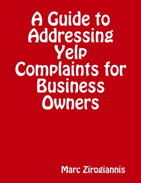 (ebook) Guide to Addressing Yelp Complaints for Business Owners