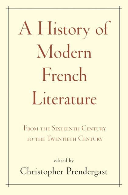 History of Modern French Literature