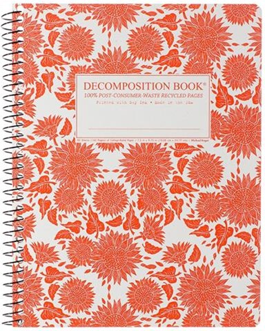 Decomposition - Spiral Notebook - Ruled - Large - Sunflowers