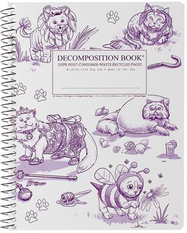 Decomposition - Spiral Notebook - Ruled - Large - Costume Cats