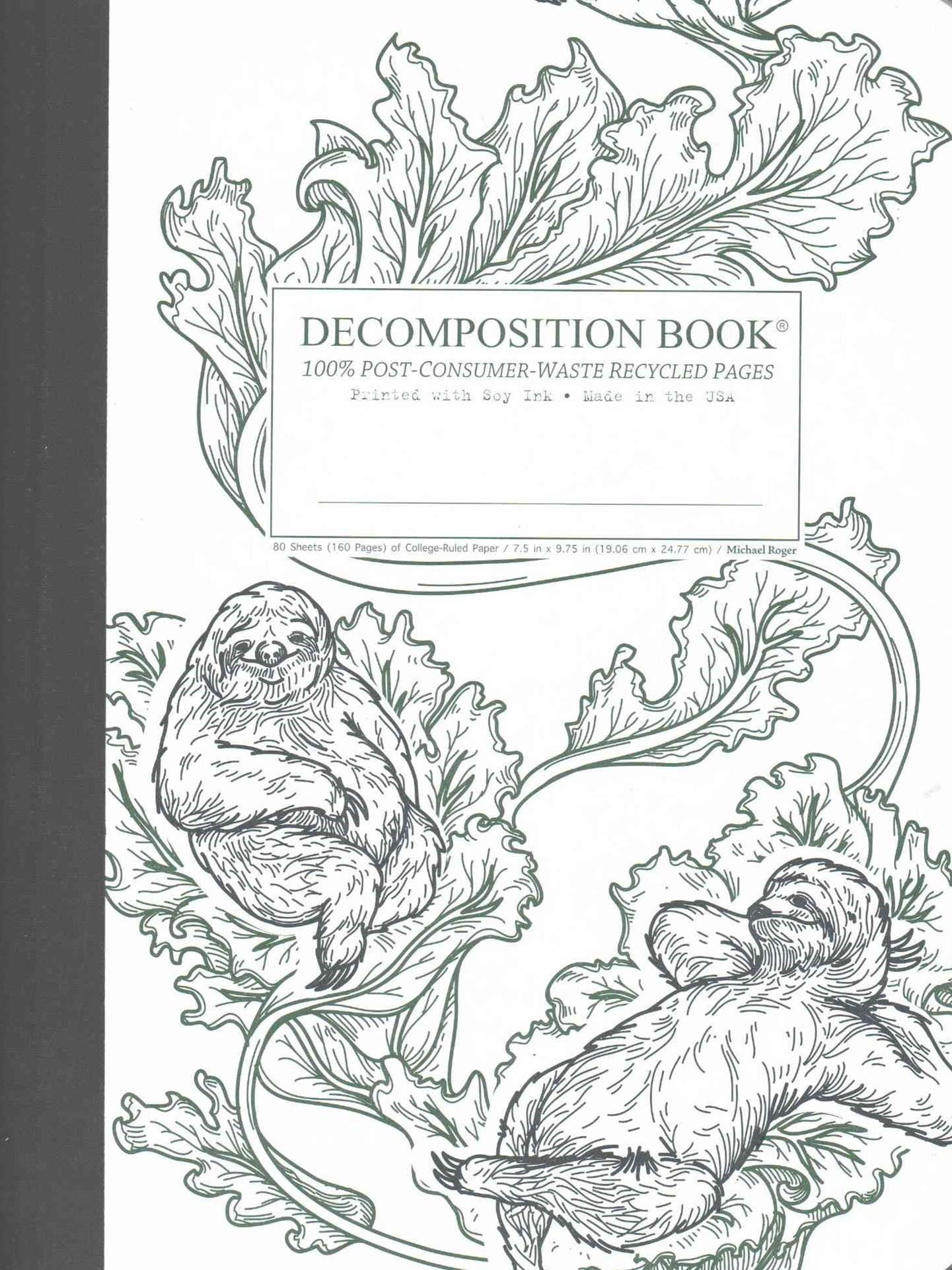 Decomposition - Notebook - Ruled - Large - Veggin' Out