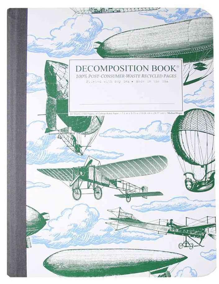 Decomposition - Notebook - Ruled - Large - Airships