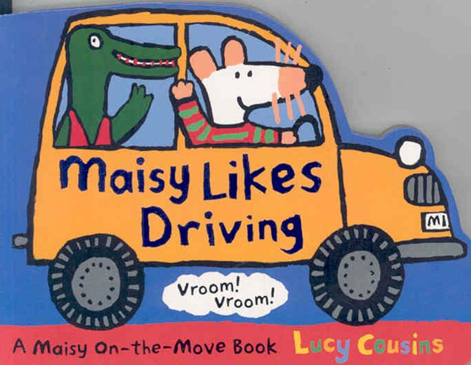 Maisy Likes Driving Shaped Board Book