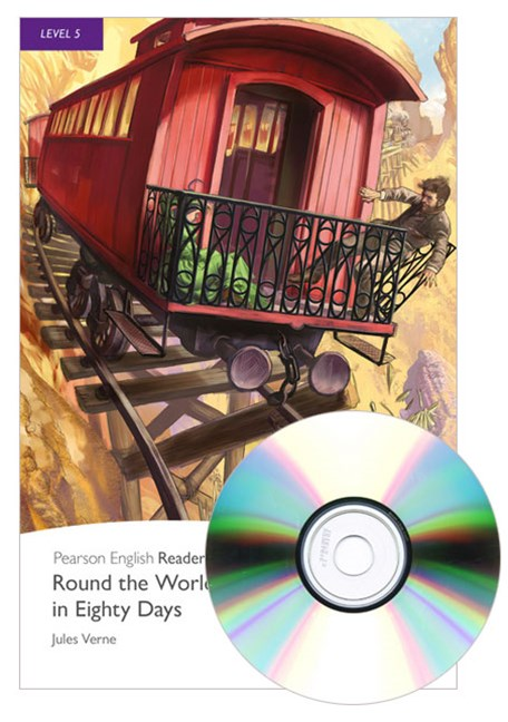 Pearson English Readers Level 5: Round the World in Eighty Days (Book + CD)