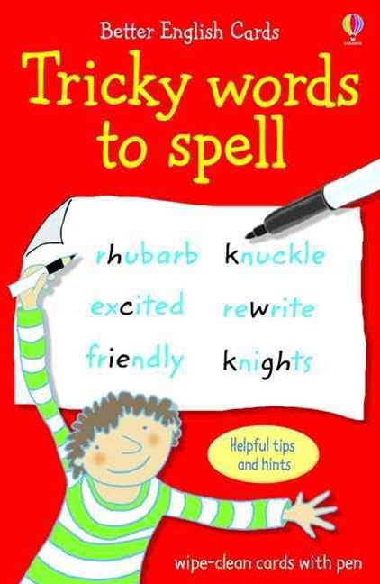 Tricky Words to Spell Usborne Better English Cards