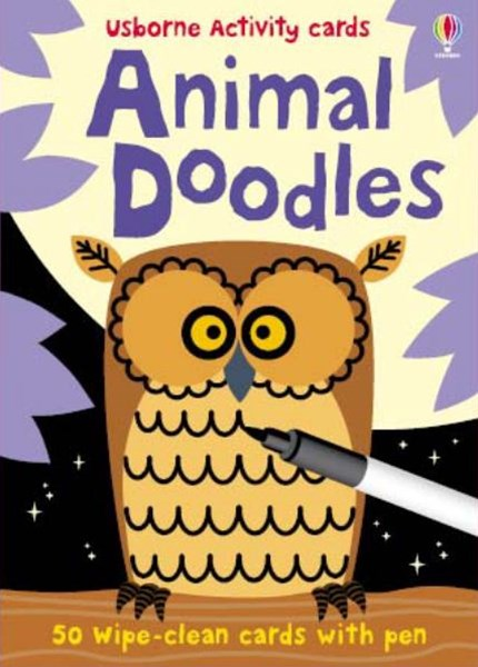Usborne Activity Cards Animal Doodles