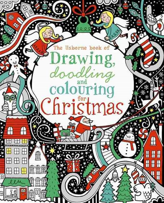 The Usborne Book of Drawing, Doodling & Colouring for Christmas