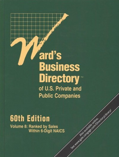 Ward's Business Directory of U. S. Private and Public Companies