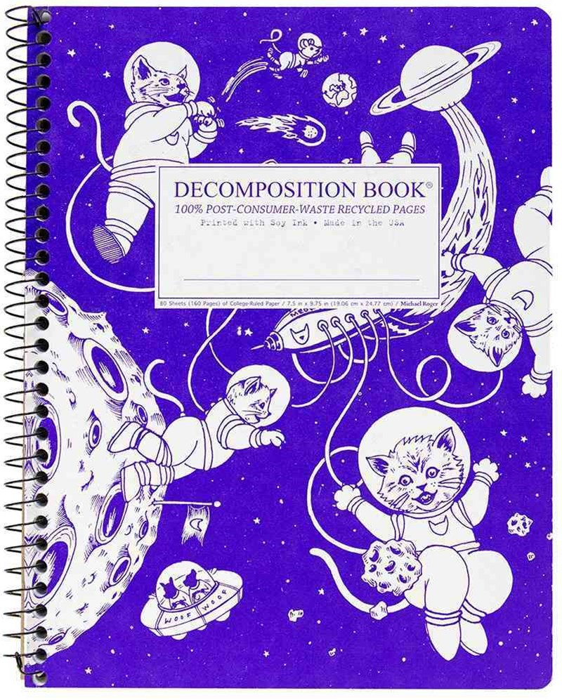 Decomposition - Spiral Notebook - Ruled - Large - Kittens In Space