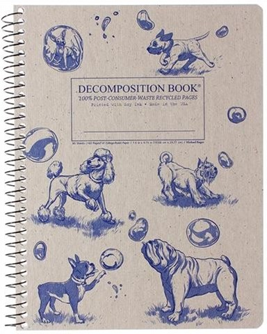Decomposition - Spiral Notebook - Ruled - Large - Dogs and Bubbles