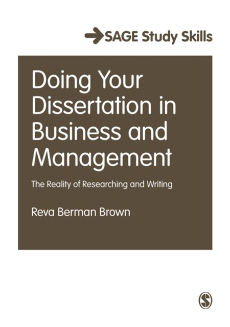 Doing Your Dissertation in Business and Management
