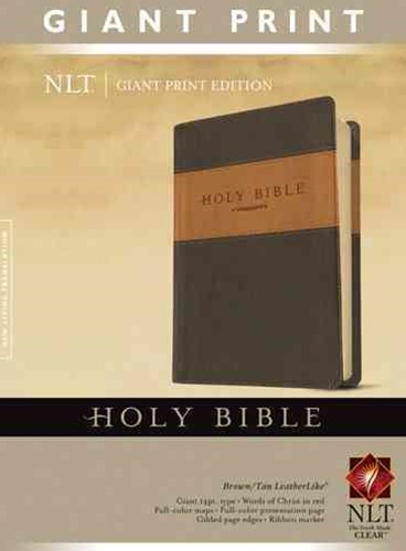 Holy Bible, Giant Print NLT, Tutone