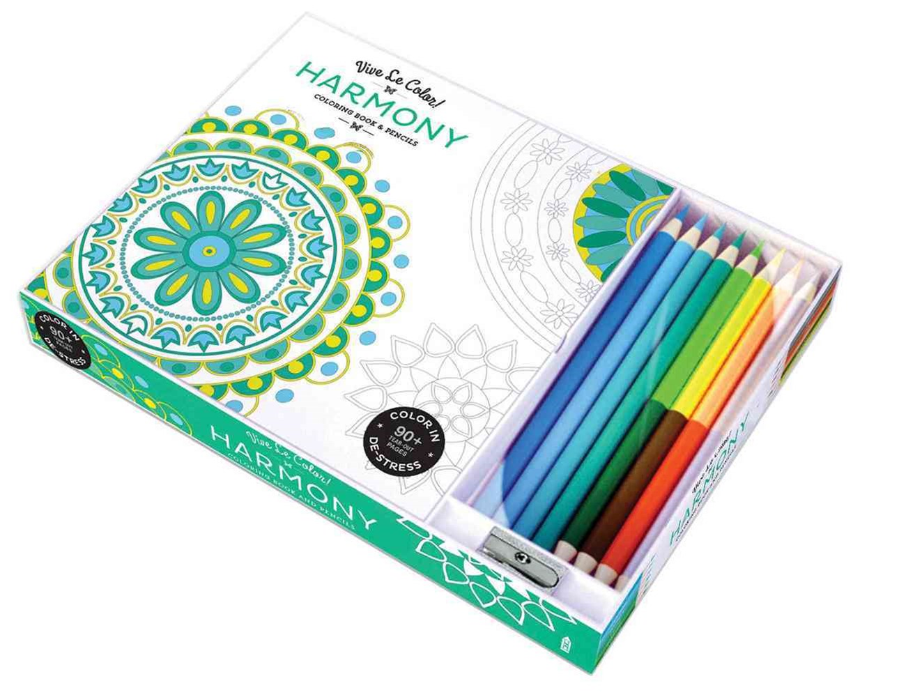 Harmony ( Coloring Book and Pencils ) Color In; Vive Le Color
