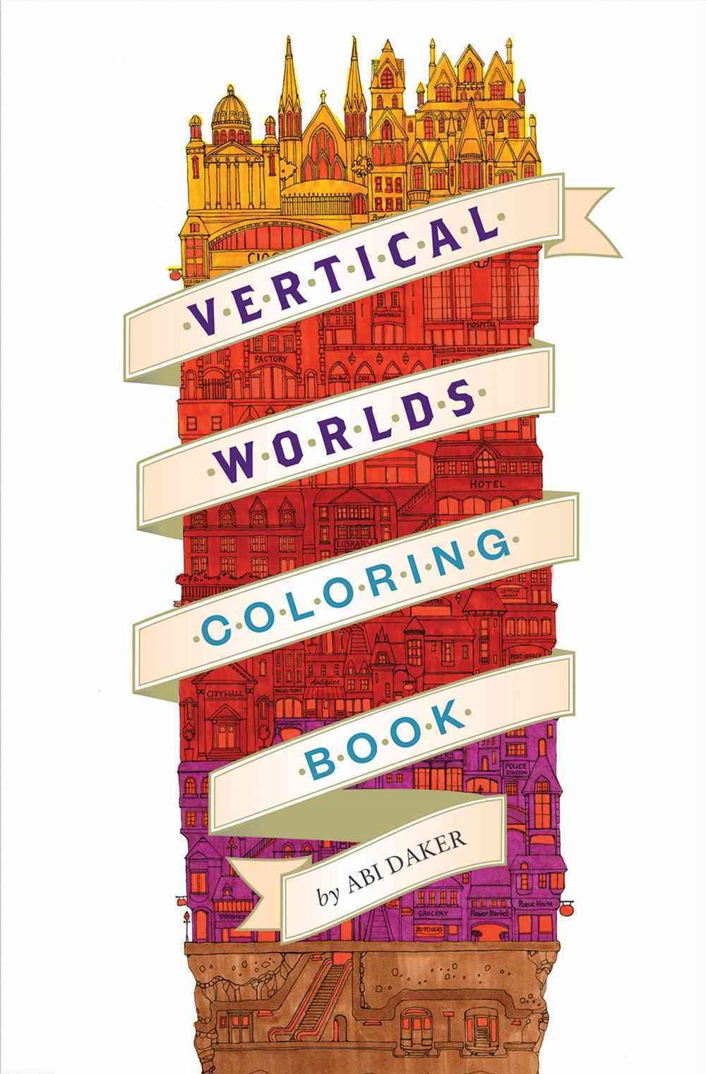 Vertical Worlds (Coloring Book)