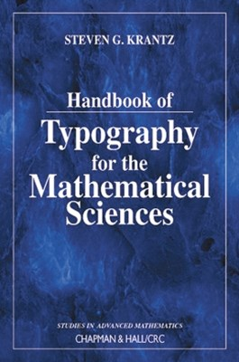 (ebook) Handbook of Typography for the Mathematical Sciences