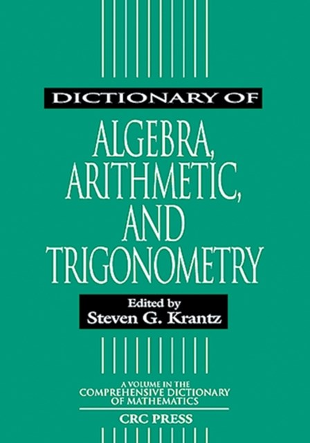 (ebook) Dictionary of Algebra, Arithmetic, and Trigonometry