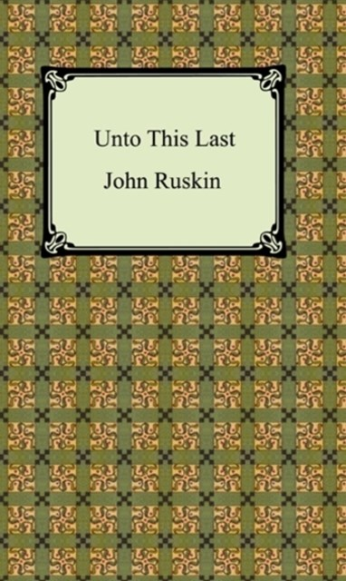 (ebook) Unto This Last