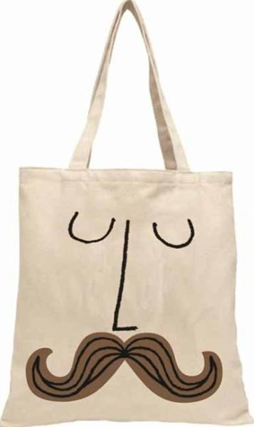 Mustache Face TOTE FIRM SALE