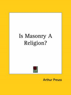 Is Masonry a Religion? by Arthur Preuss (9781425460501) - PaperBack - Social Sciences Sociology