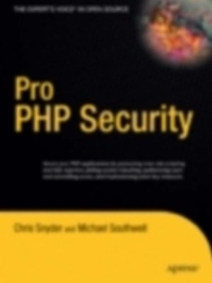 (ebook) Pro PHP Security