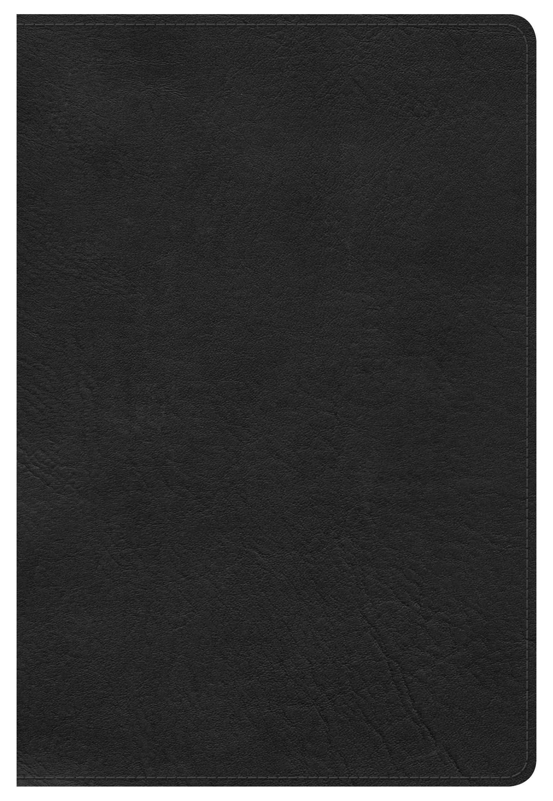 HCSB Large Print Personal Size Bible, Black LeatherTouch, Indexed