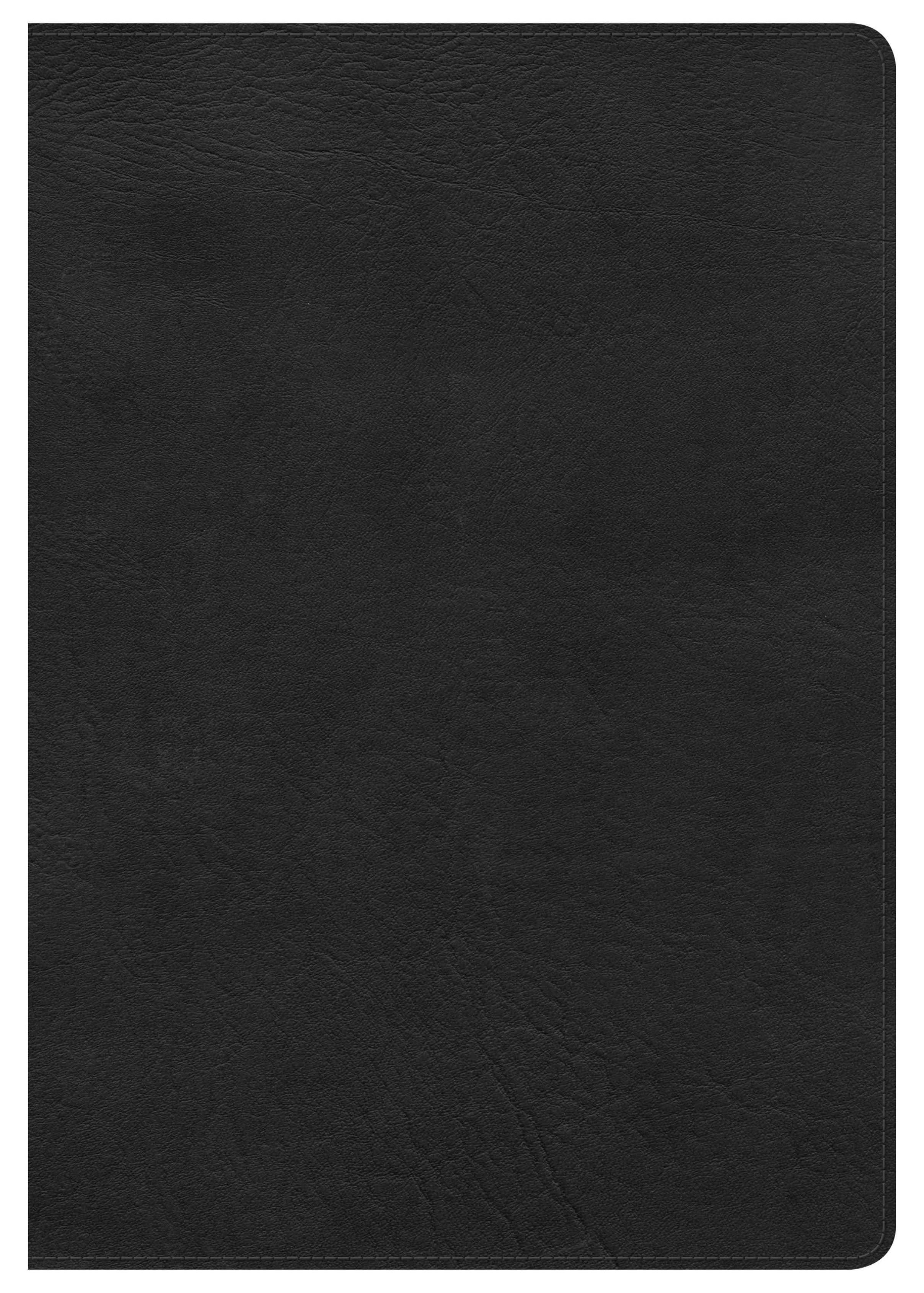 HCSB Super Giant Print Reference Bible, Black LeatherTouch, Indexed