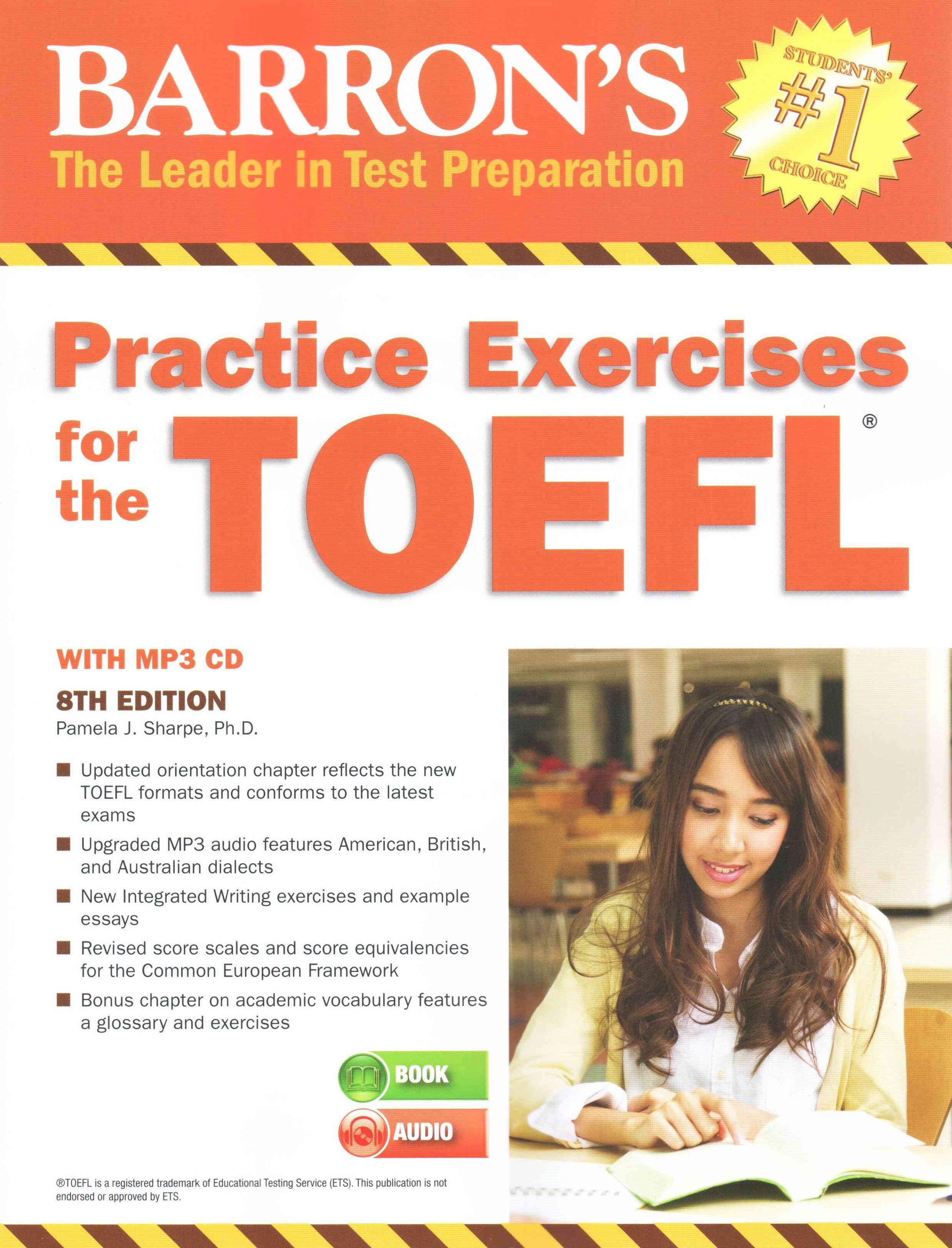 Practice Exercises for the TOEFL with MP3 CD, 8th Edition