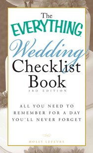 Everything Wedding Checklist Book by Holly Lefevre, Holly Lefevre (9781440501852) - PaperBack - Family & Relationships Wedding Guides