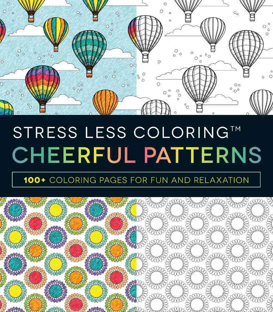 Stress Less Coloring - Cheerful Patterns