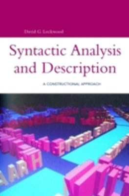 Syntactic Analysis and Description