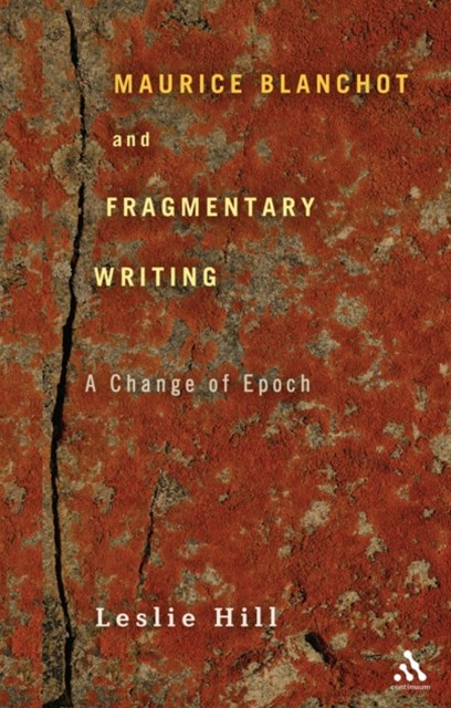 (ebook) Maurice Blanchot and Fragmentary Writing